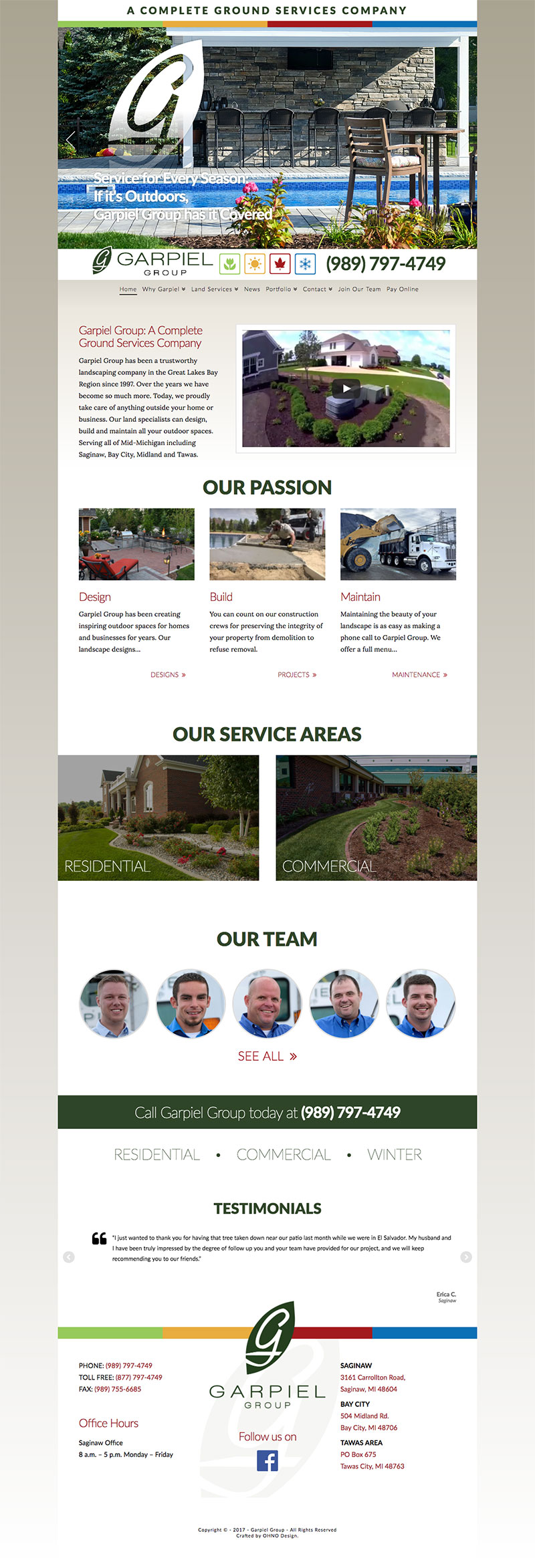 Garpiel Group homepage