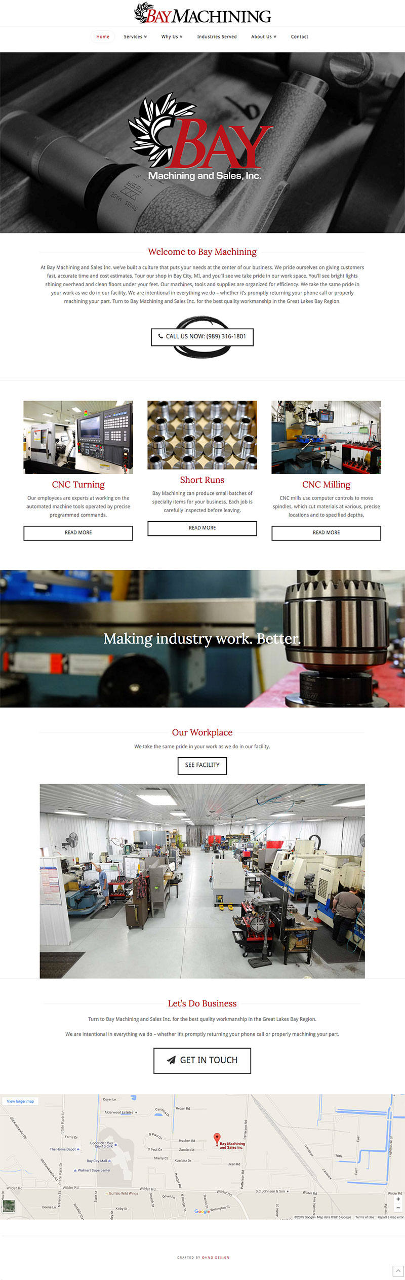 Bay Machining homepage
