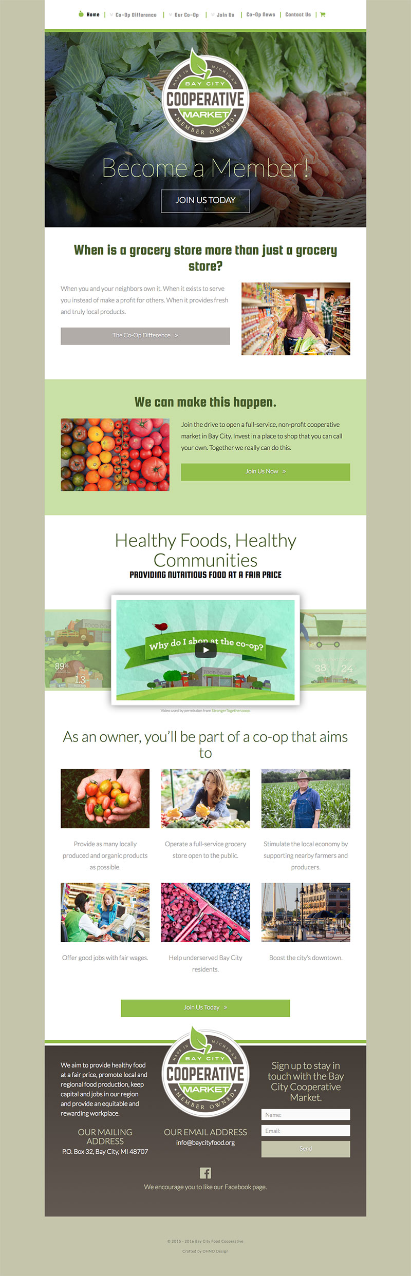 Bay City Cooperative Market homepage