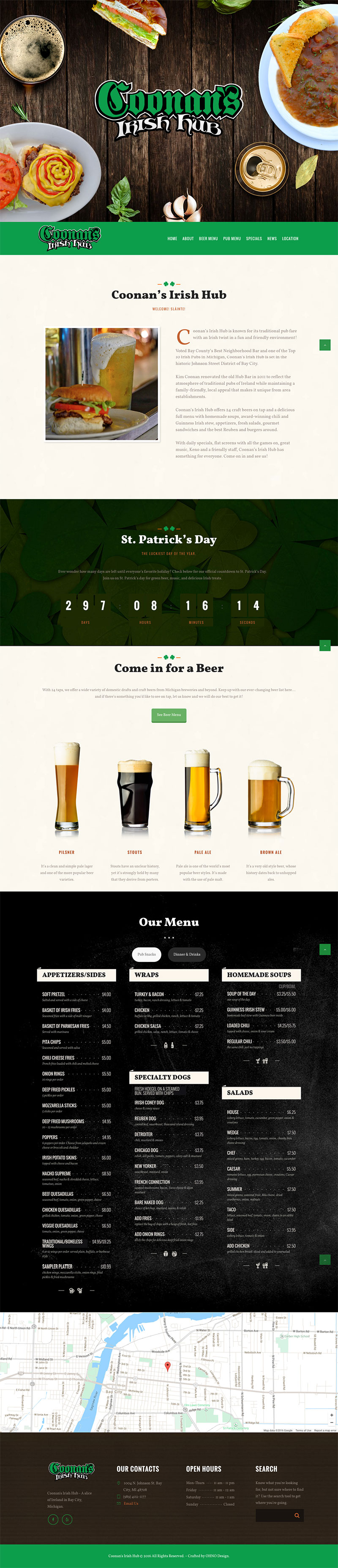 Coonan's Irish Pub homepage