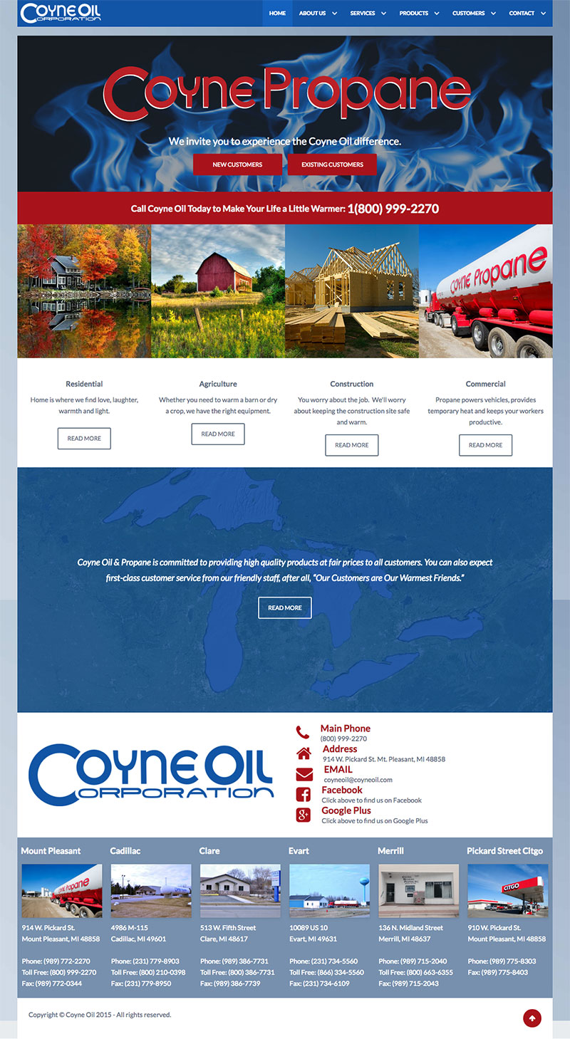 Coyne Oil homepage