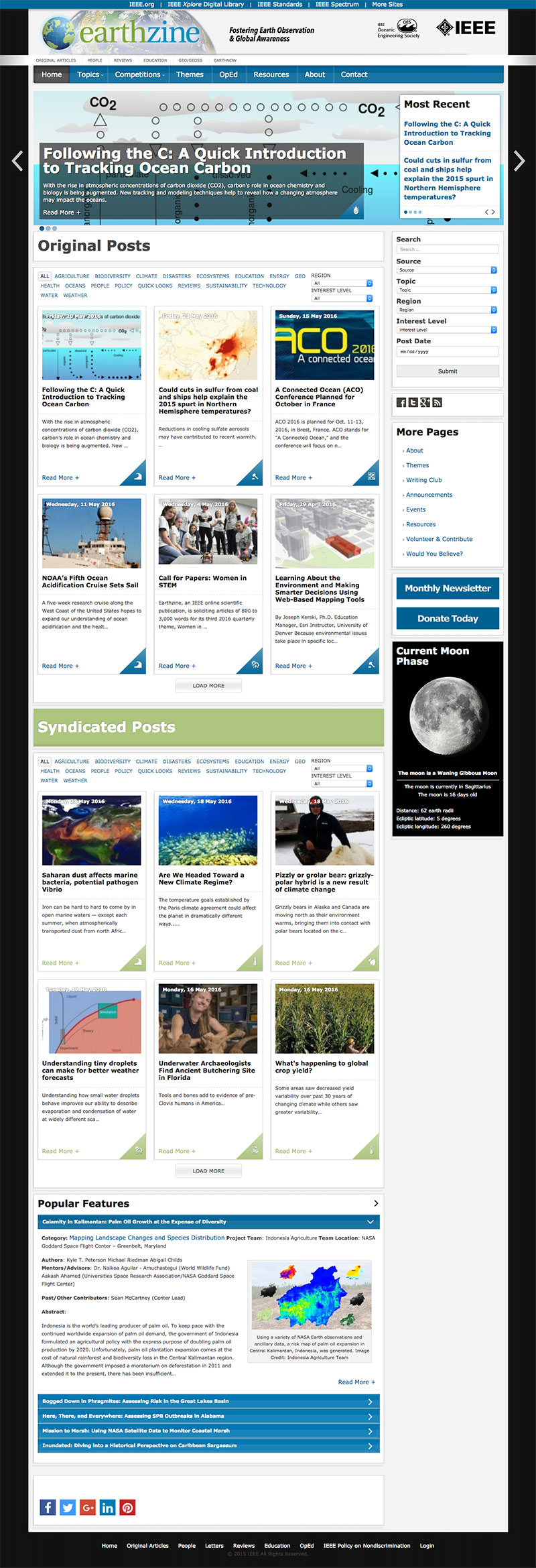 Earthzine homepage