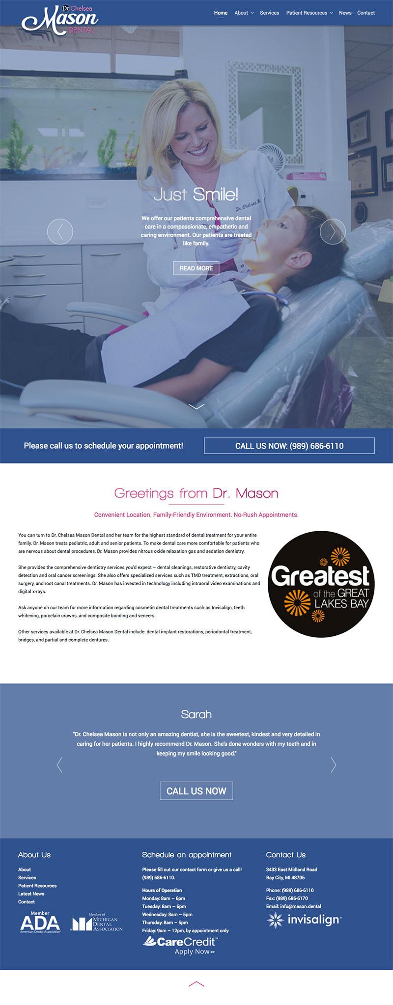 Chelsea Mason homepage