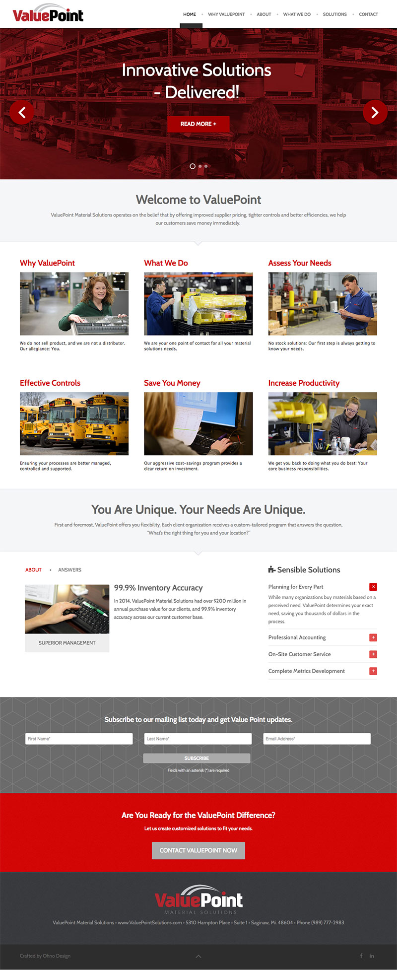 Valuepoint homepage