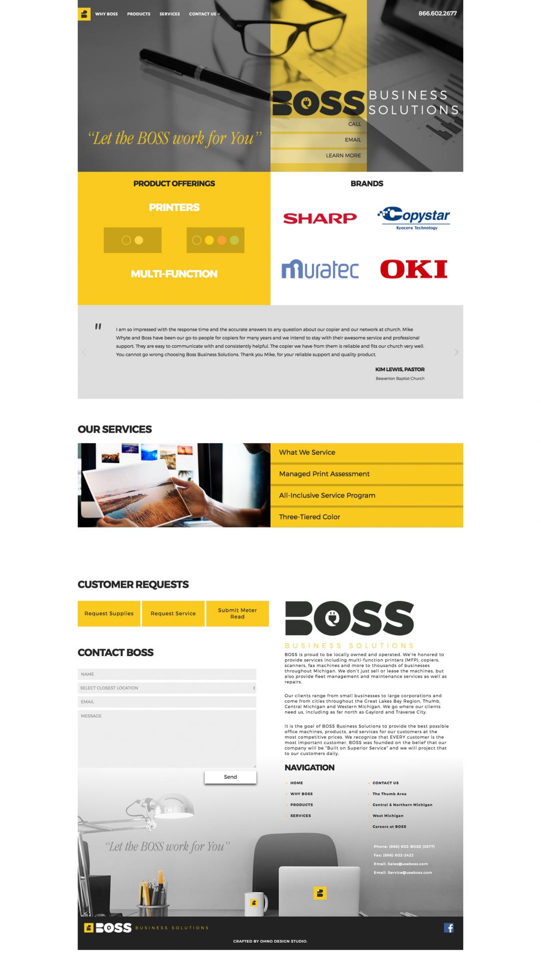 BOSS homepage